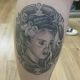 Bride of Frankenstein Portrait Tattoo - Lemoyne Tattoo Studio - Rayzor Tattoos