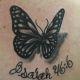 Butterfly and Verse - Rayzor Tattoos - Camp Hill Tattoo Shop - AJ Weaver
