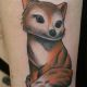 Custom Cute Fox - Rayzor Tattoos - Camp Hill Tattoo Shop - AJ Weaver