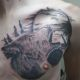 Realistic Wolf Howling Tattoo - Lemoyne Tattoo Studio - Rayzor Tattoos