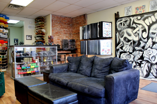 Punk Rock Lobby & Skate Shop at Rayzor Tattoos
