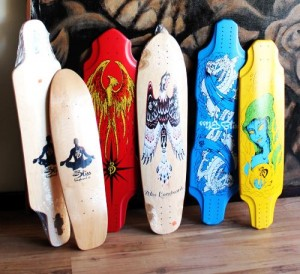 Bliss Longboard line, Designed and developed by Ray Young