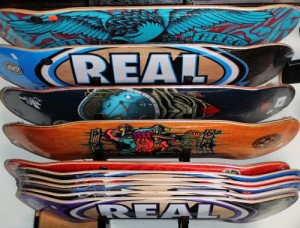 Many boards to choose from. We have a wide selection of standard, popsicle, street, park, and pool decks to choose from.