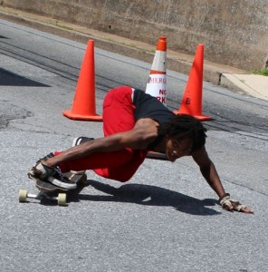 roadrash Williams of the new Public Menace skate crew... keeping it dangerous!