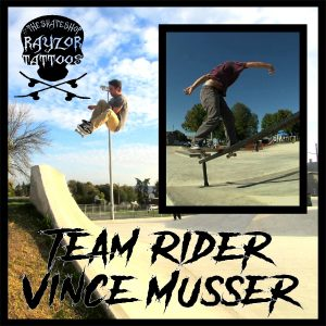 Steelton Harrisburg Rayzor Tattoos Skateboard Shop Team Member Vince Killing It